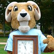 Rhody with clock